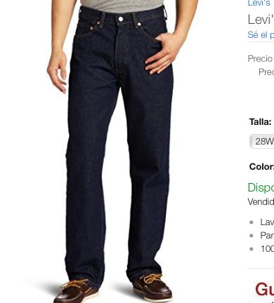 Buen FIn 2016 Amazon: Levi's 550 Pantalones Para Hombre varios modelos desde $539