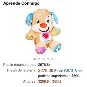 Buen Fin 2016 Amazon: Fisher Price, Friends Play Ríe y Aprende Perrito Aprende Conmigo