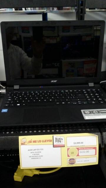 Buen Fin 2016 Walmart: Laptop Acer a $3,999