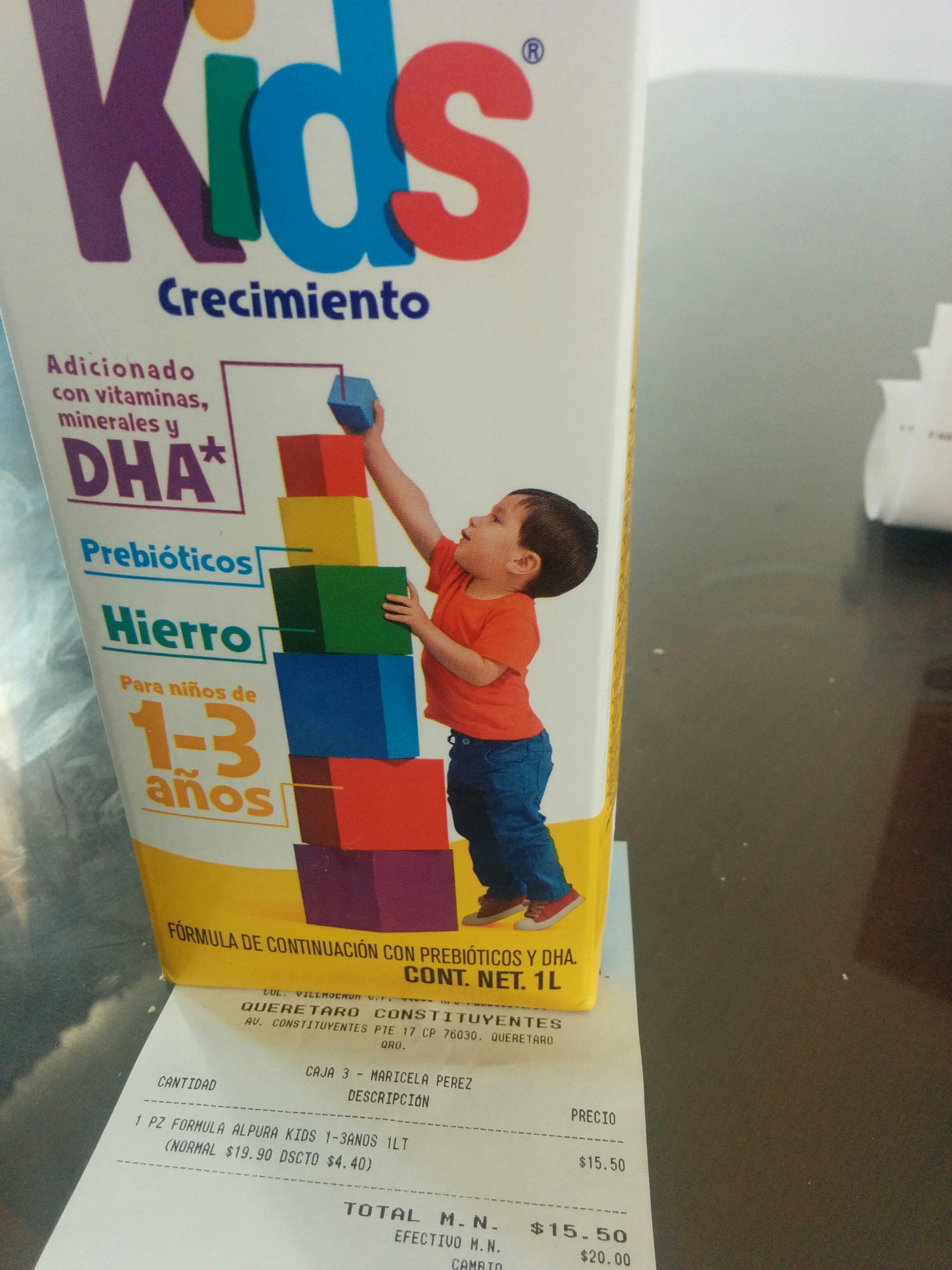 Farmacias Guadalajara: leche Alpura Kids a $15.50