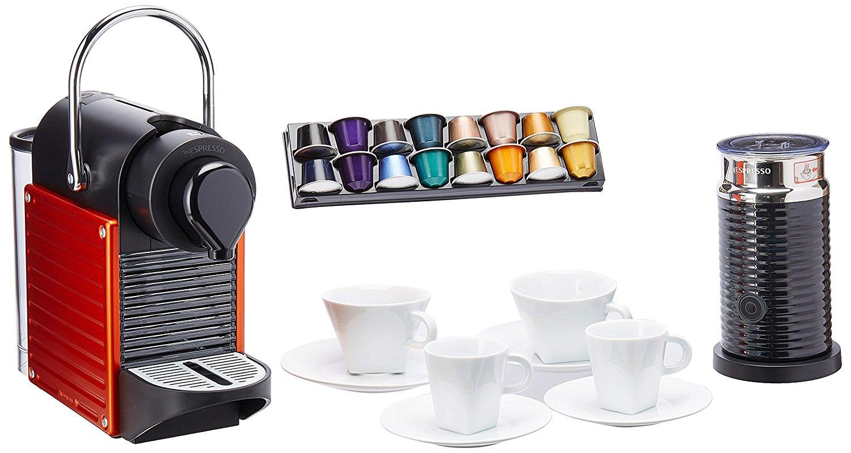 Buen Fin 2016 Amazon: Bundle Nespresso 4 tazas + Cafetera + Aeroccino + Cupón para capsulas de cafe x $400