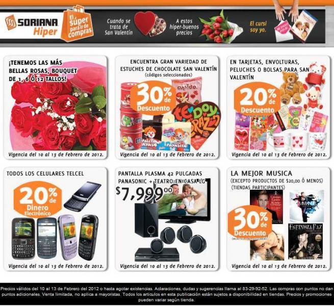 Soriana: 20% ene modenero electrónico en celulares Telcel y más