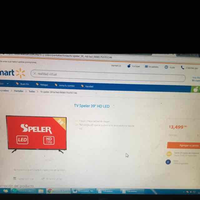 "Buen Fin 2016 Walmart: TV Speler 39"" HD LED"