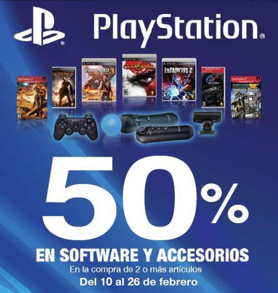 50% de descuento en juegos y accesorios de PlayStation de Sony (varias tiendas)