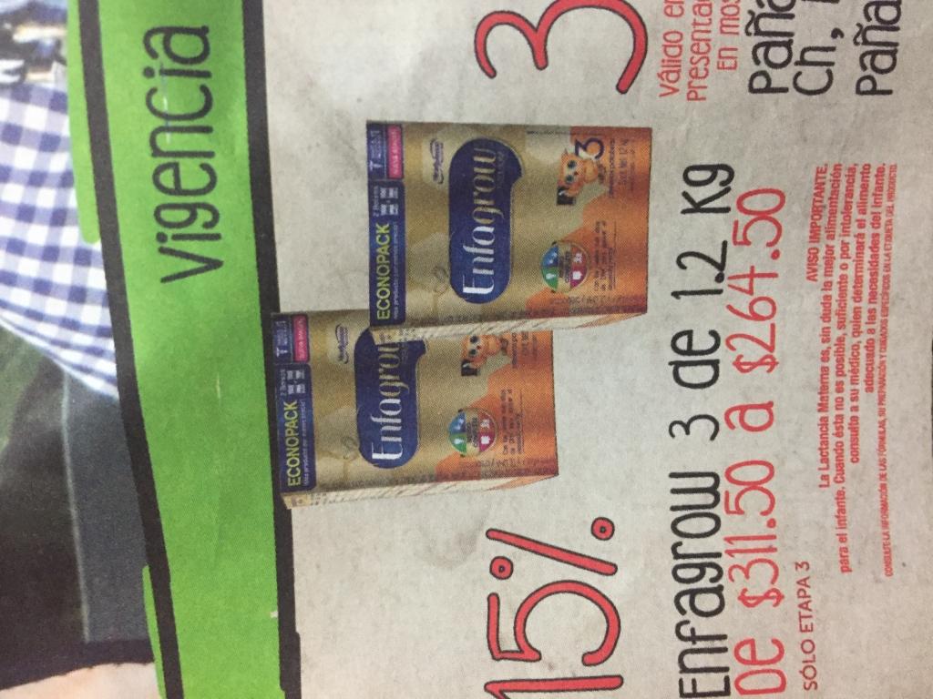 Farmacias San Pablo: descuento 15% en presentación 1.2kg de Enfagrow