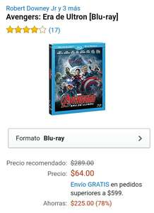 Amazon: Avengers, Era de Ultron a $64