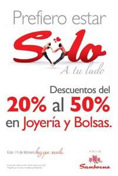 Sanborns: hasta 50% de descuento en joyería y bolsas