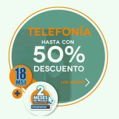 Elektra: hasta 50% descuento en telefonía
