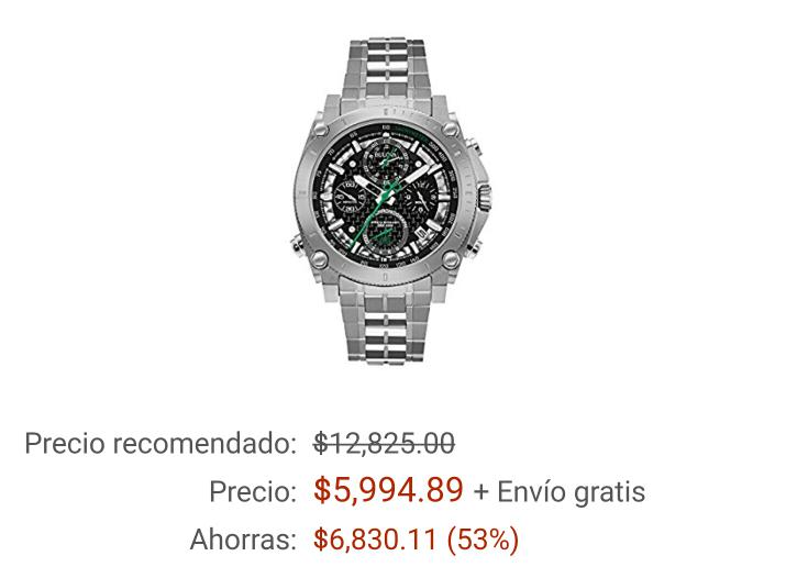 Amazon: Reloj Bulova con 53% de descuento (vendido por Ituxs)
