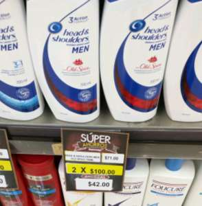 Superama Veracruz: 2 botellas de Head & Shoulders 750ml por $100
