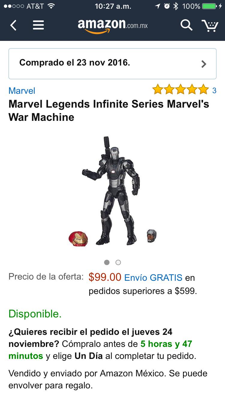 Amazon: Marvel Legends Infinite Series Marvel's War Machine