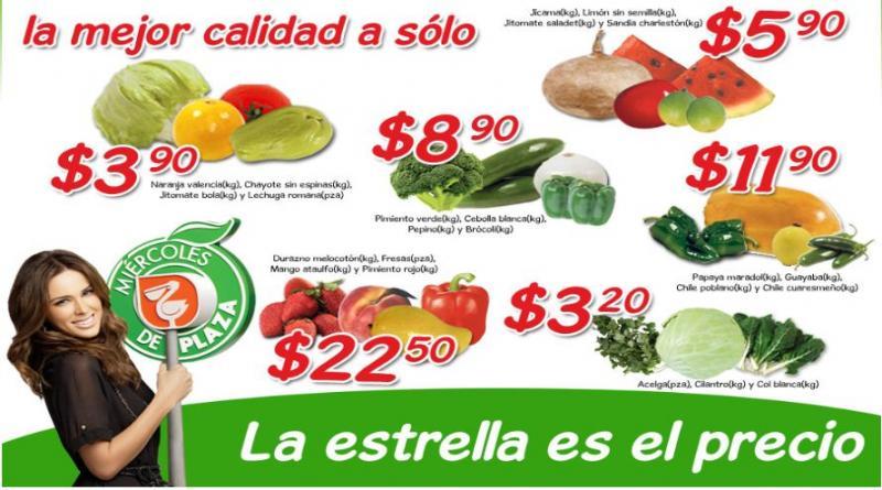 Miércoles de Plaza en La Comer febrero 7: jitomate $3.90 Kg, acelga $3.20 Kg y más