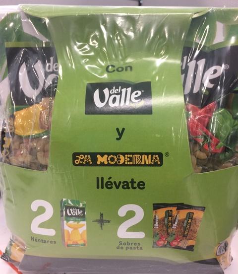Chedraui Selecto Santa Fé: paquete de 2 Nectar Jugo del Valle + 2 Pastas La Moderna