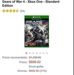 Amazon: Gears of War 4 Físico a $899