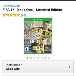 Amazon: Fifa 17 Físico para Xbox One y PS4 a $819