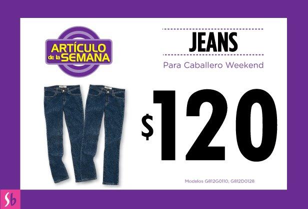 Artículo de la semana en Suburbia: jeans para caballero Weekend a $120