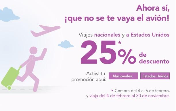 Volaris: 25% de descuento en viajes nacionales e internacionales