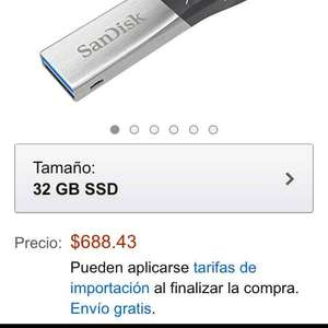 Amazon: USB Ixpand Sandisk de 32 GB para IPhone $688.43