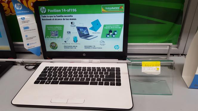Bodega Aurrerá Pilares: laptop HP 14-AFf196 a $6,079.02