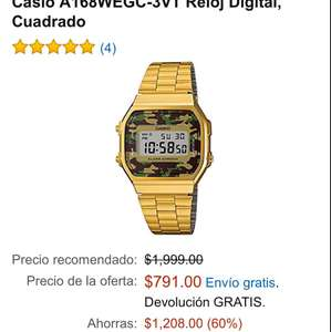 Black Friday en Amazon: Relojes Casio Vintage A168WEGC-3VT
