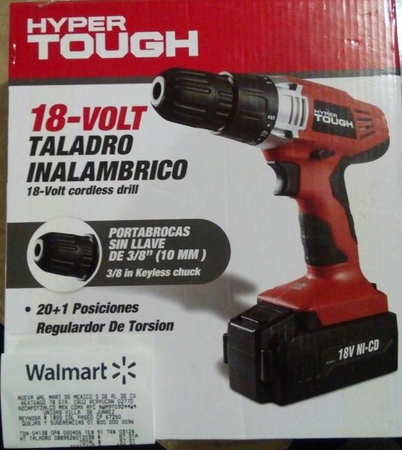 Walmart Villa Juarez NL: Taladro inalámbrico Hyper Tough a $57.01