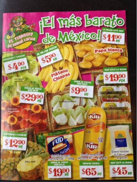 Tianguis de Mamá Lucha Bodega Aurrerá febrero 3: plátano $5.90 Kg, cebolla $9.90 Kg y más