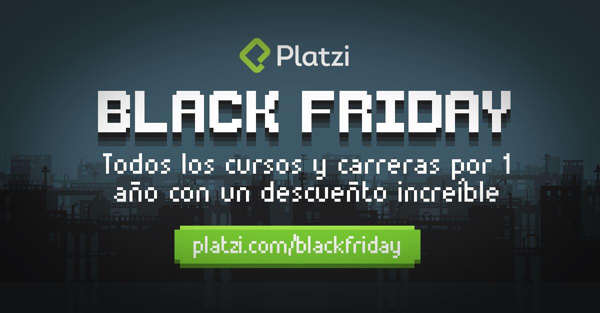 Black Friday en Platzi: Suscripción Anual
