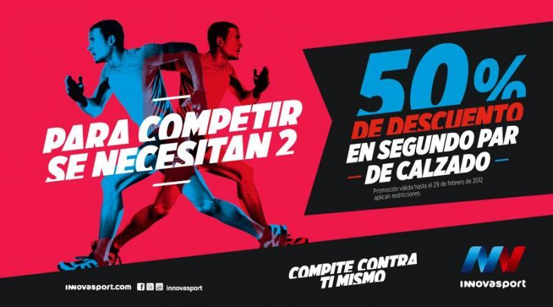 Innova Sport: 50% de descuento al comprar segundo par de calzado