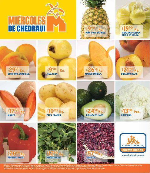 Miércoles de frutas y verduras Chedraui febrero 1: tomate $3.90 Kg, lechuga $3.70 pza y más
