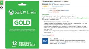 Black Friday 2016 Amazon: Xbox live gold en 750 mas 10% de descuento con Bancomer
