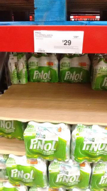 Sam's Club: paquete de 6 botellas de 1 litro de Pinol jabon de lavandería