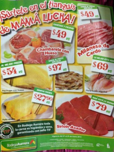 Tianguis de Mamá Lucha Bodega Aurrerá enero 27: zanahoria $5.90 Kg, aguacate $14.90 Kg y más