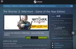 Steam: The Witcher 3 GOTY