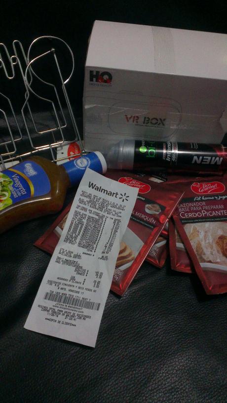 Walmart La Rosita: sasonador 3.01 aderezo 12.02 desodorante 11.01 base para sartén calientes 5.01