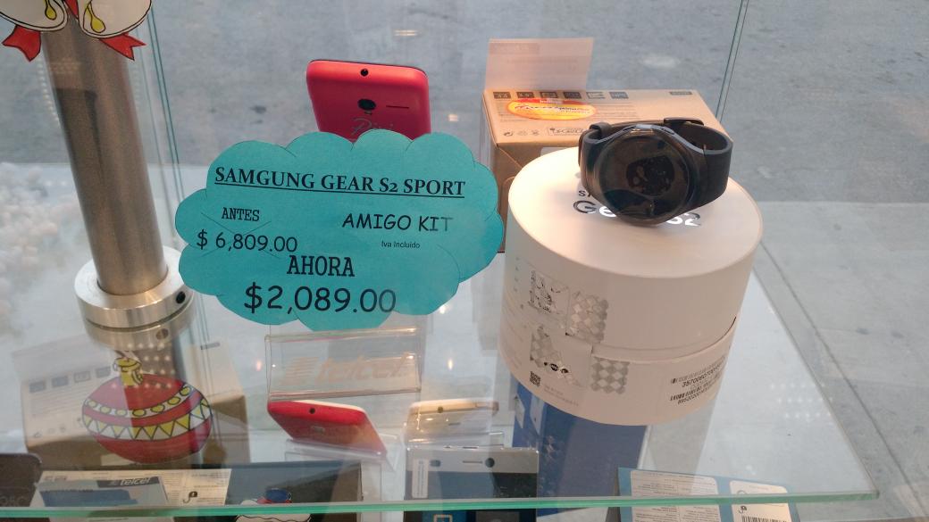 CAC Telcel: Samsung Gear S2 SPORT $2,089