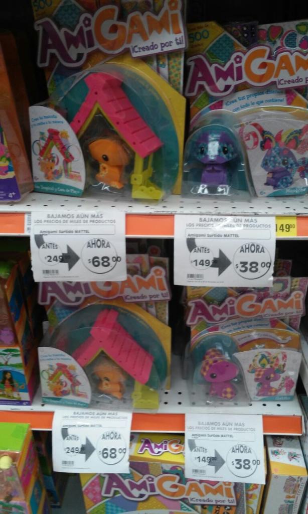 Comercial Mexicana Villas de la hacienda: juguetes AmiGami y mas