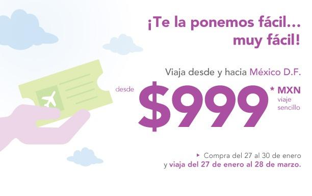 Volaris: viaja desde y hacia México DF desde $999