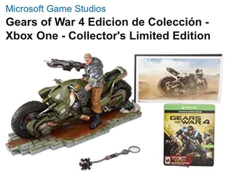 Amazon: Gears of War 4 Edicion de Colección - Xbox One - Collector's Limited Edition ($3,600 con Bancomer)
