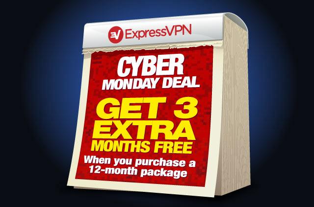 Cyber Monday 2016 Expressvpn: te regala 3 meses al comprar suscripción 1 año