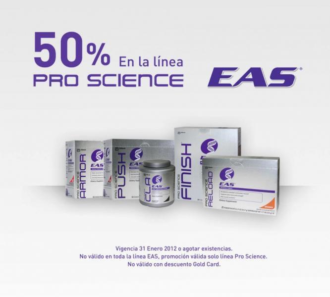 GNC: promociones en productos de EAS (2x1, 50% y más)