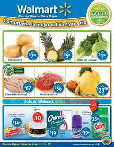 Martes de frescura Walmart enero 24: piña $5.90, lechugas $1.90 y más