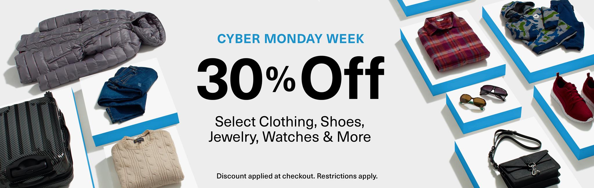 Cyber Monday 2016 Amazon USA: 30% en ropa y artículos relacionados.
