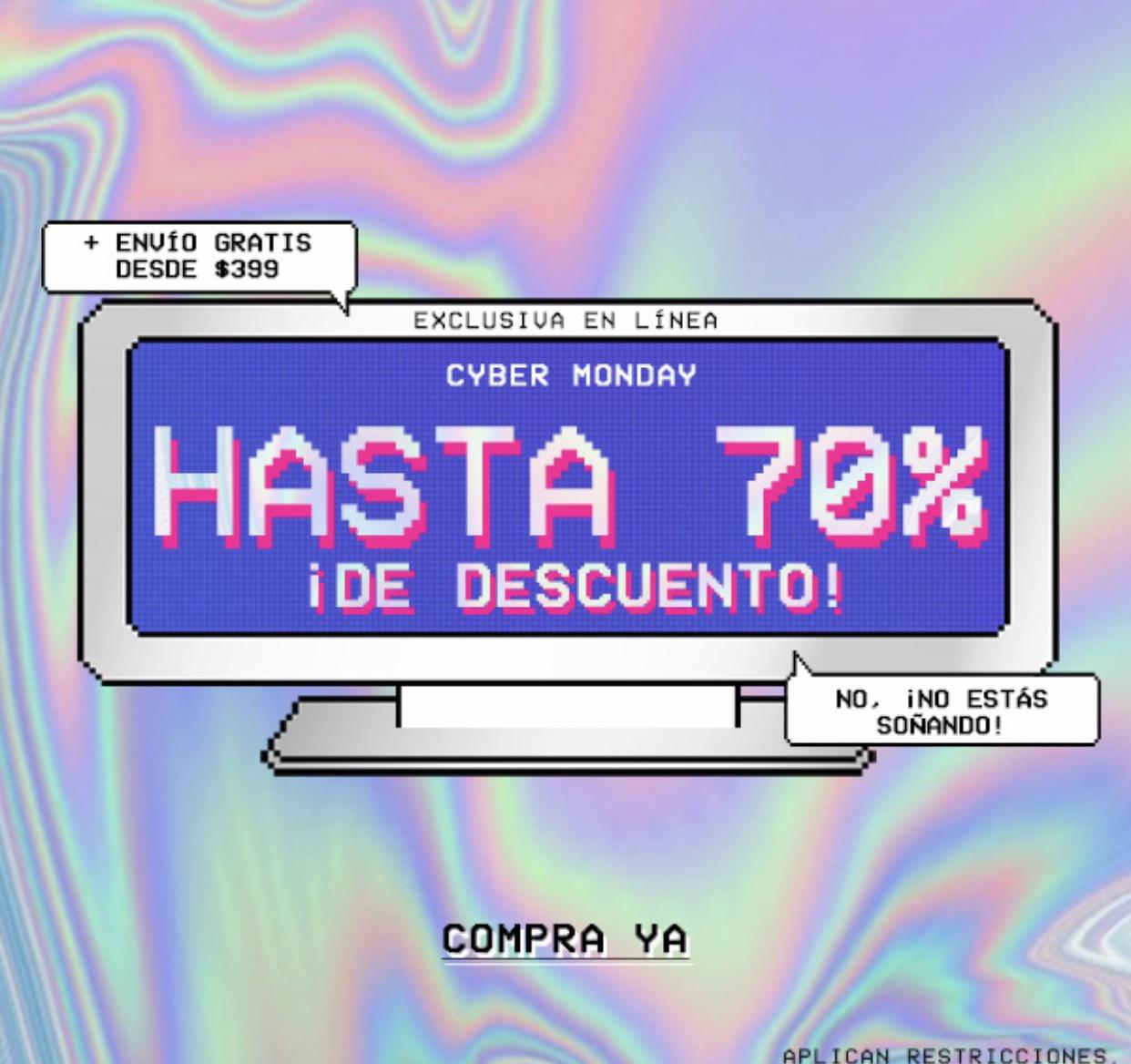 Cyber Monday Forever 21: hasta 70% de descuento
