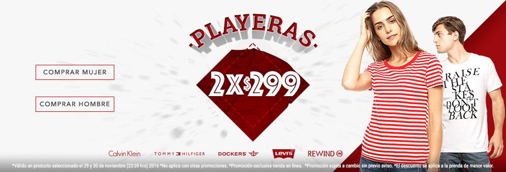 Promoda: 2 x 299 Playeras seleccionadas