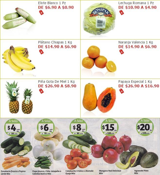 Soriana Híper y Súper: Martes 29 Noviembre: Elote $0.90 pza; Lechuga $4.90 pza; Plátano $6.90 kg; Naranja $6.90 kg; Piña $8.90 kg; Papaya $16.90 kg. y más
