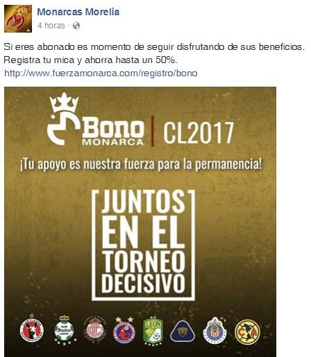 Monarcas Morelia: Bono Monarcas, ahorra hasta un 50%.