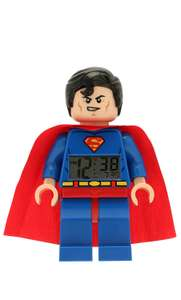 Amazon: Reloj despertador Lego de Superman y Batman 37cm