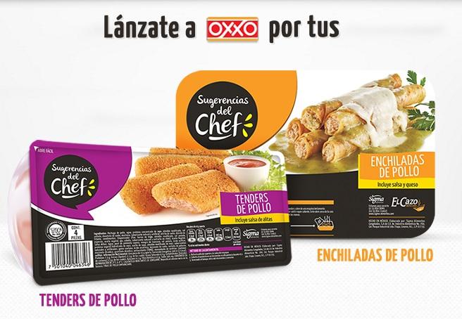 Cupón Oxxo:  Sugerencias del Chef al 2x1