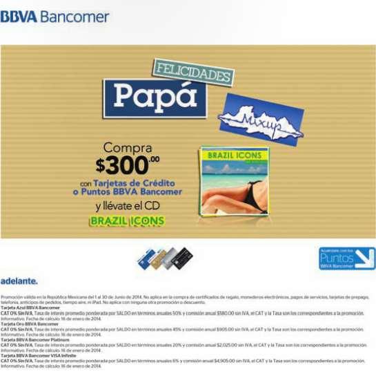 Mixup: gratis CD Brazil Icons pagando con Bancomer