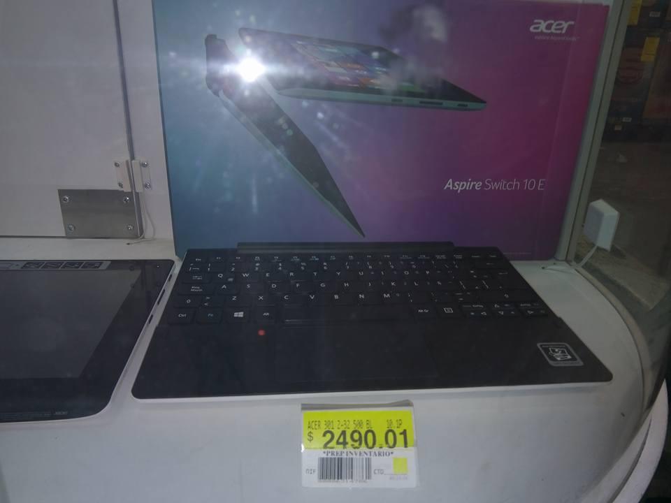 Bodega Aurrerá Anillo periférico: Acer Aspire Switch 10 E a $2,490.01